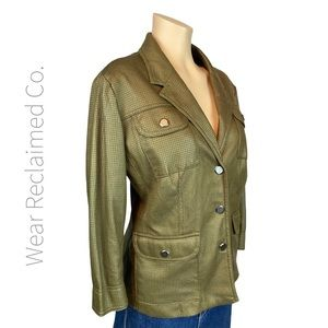 TAN JAY Lined Faux Leather Jacket